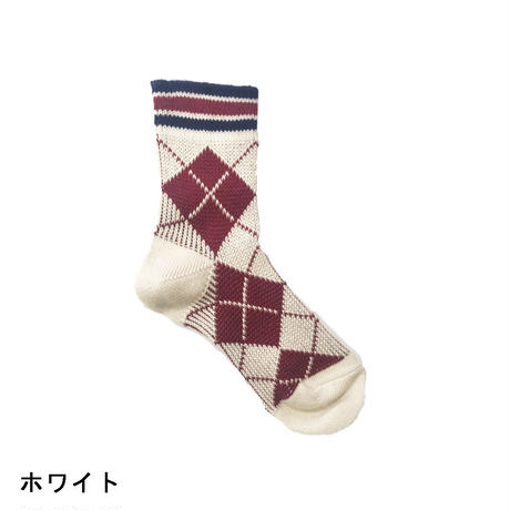 HAKOKA(ハコカ)アーガイル柄 クルーソックス