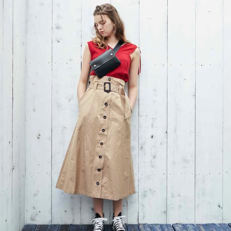 <ADIRA>trench long skirt AR181SK12