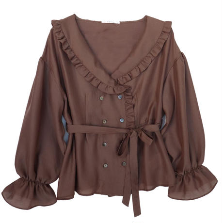 <ADIRA>frill collar blouse AR191TP27