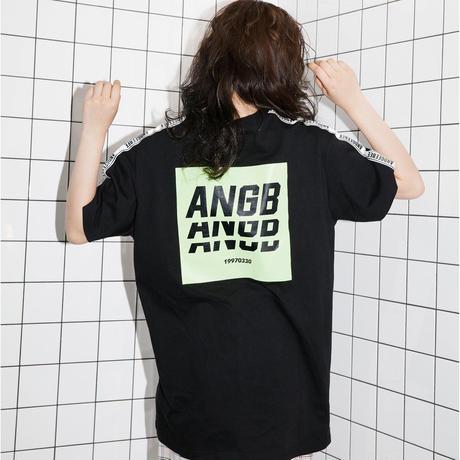 <ANDGEEBEE>【UNISEX】バックプリントラインT AG192CS26