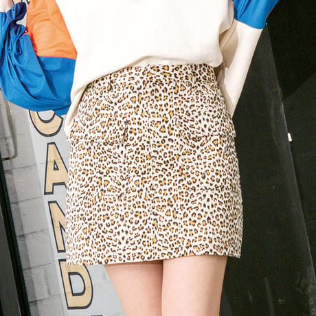 <ANDGEEBEE>レオパードスカート AG191SK05