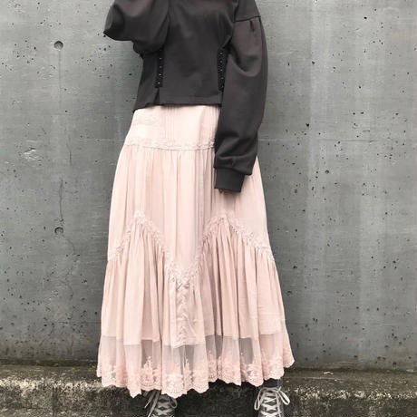 <ADIRA>pin tuck detail long skirt AR181SK10