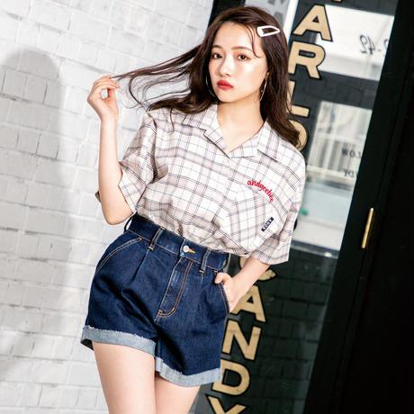 <ANDGEEBEE>カイキンチェックシャツ AG191SH01