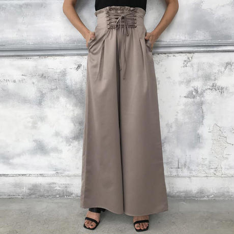 <ANDGEEBEE>lace-up wide pants AG181PT03