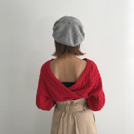 <ADIRA>【再入荷】cable 2way knit AR183KT08