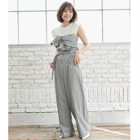 <ADIRA>stripe wide pants AR181PT04