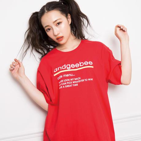 <ANDGEEBEE>【UNISEX】ビビッドカラーT AG192CS31