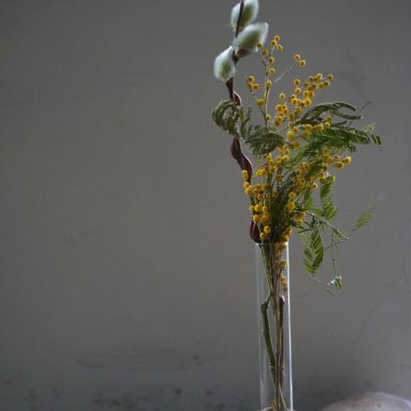 ミモザ ガラス×ウッド 花瓶セット