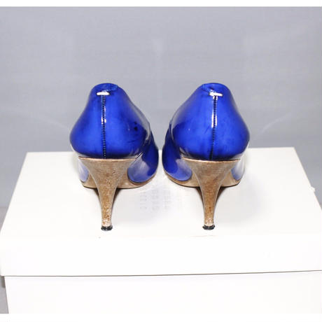 Maison Margiela 22 / Leather blue 8cm Pumps