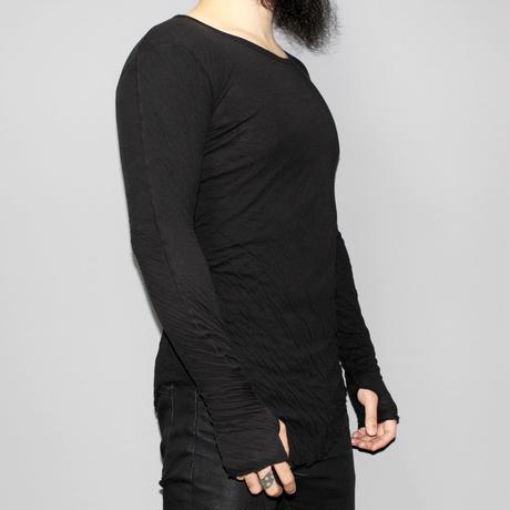BORIS BIDJAN SABERI / SS13 Wrinkle double layer LS T-shirt
