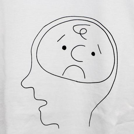 C by KEN KAGAMI / 脳 (Brown Brain.)  T-shirt (White)