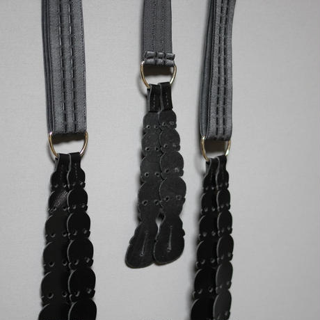 Yohji yamamoto pour homme / 18AW Skulls pare of braces ( Suspenders )