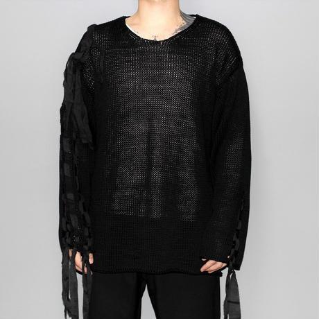 Yohji yamamoto pour homme / 18SS Flat string braided knit