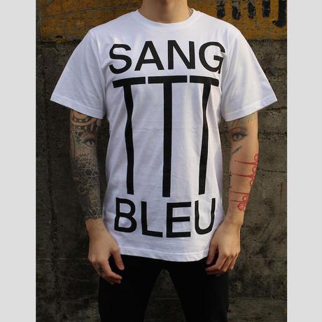 SANG BLEU / SLOGAN TTT T-SHIRT(WHT)