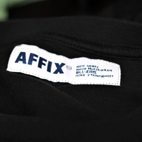 AFFIX /  Long sleeve logo print T-shirt