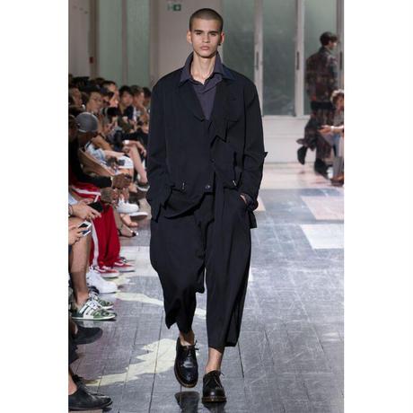 Yohji yamamoto pour homme / SS18 Side tuck wide wool gabardine trousers