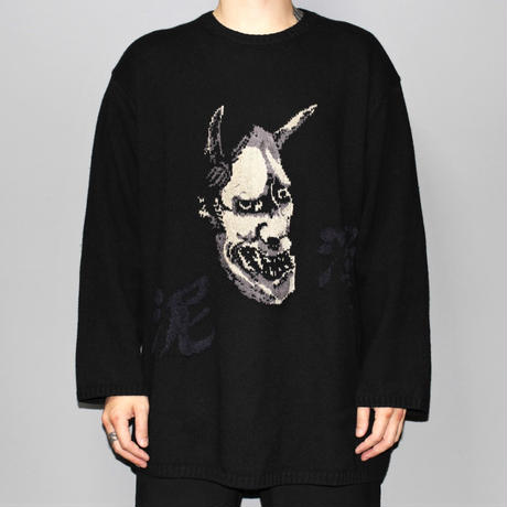 Yohji yamamoto pour homme ( Black Scandal ) / 18AW PO Black knit