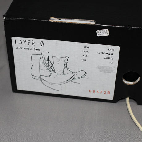 LAYER-0 / CORDOVAN ANKLE BOOTS 2.0H16B