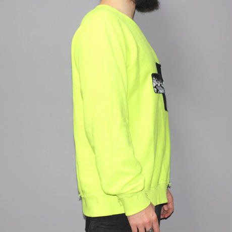MISBHV / Raver neon inside out sweat shirt