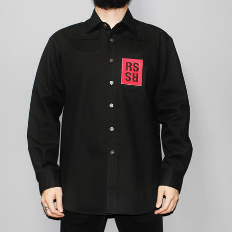 RAF SIMONS / COATED DENIM SHIRT