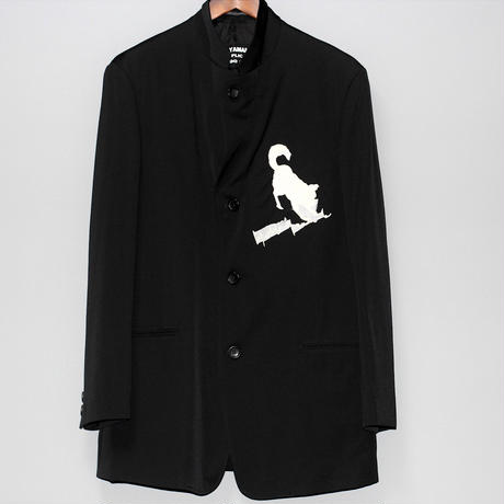 Yohji yamamoto pour homme / 18AW 90's Dog embroidered jacket