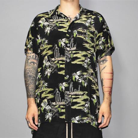 BLACKFIST / Toxic Hawaiian printed SILK Shirt
