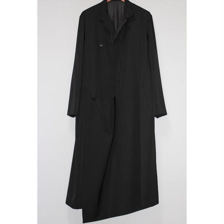 Yohji yamamoto pour homme / 18AW Front drape wool gabardine dress coat