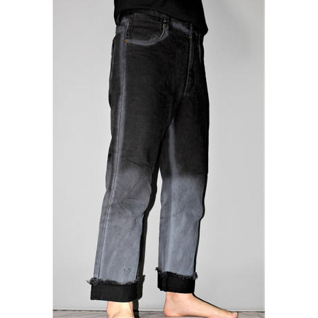 SAGITTAIRE A / SS19 Black dyed jeans