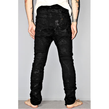 BORIS BIDJAN SABERI / Hand stitched body molded pants P14