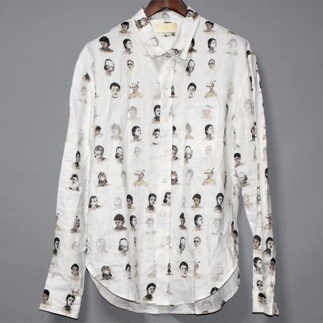 SAGITTAIRE A / SS19 Face print linen shirt