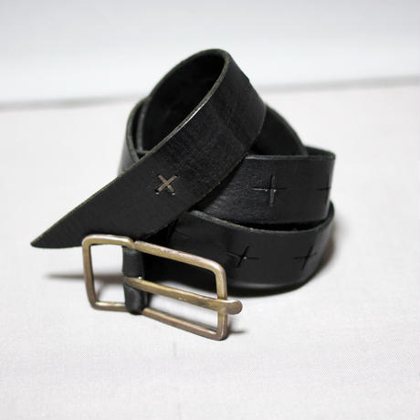 "Re-stock ! M.A+ by Maurizio amadei / Medium "" G "" Buckle cross cuts broad belt"