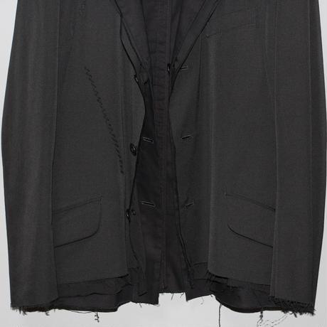 Yohji yamamoto pour homme / AW15 3 layered reversible tailored jacket