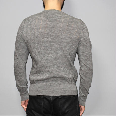 CAROL CHRISTIAN POELL / 01AW MALE Wool bias knit