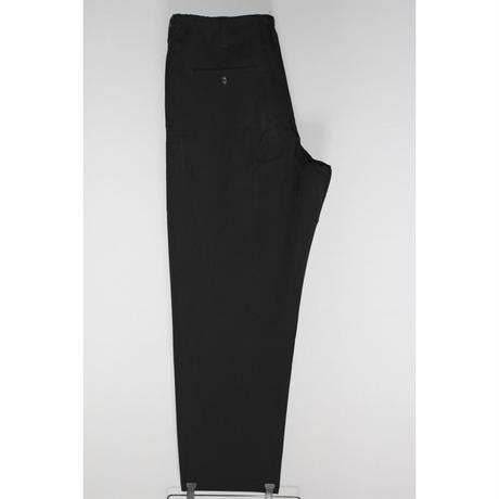 Yohji yamamoto pour homme / SS18 Wool gabardine drawstring waist pants