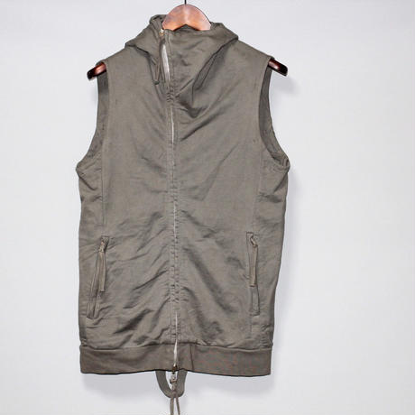 BORIS BIDJAN SABERI / ZIPPER 0  / Sleeveless hoodie