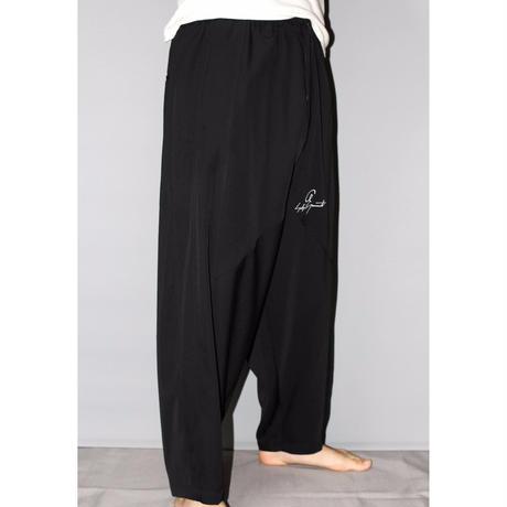 Yohji yamamoto pour homme / 16SS Logo drop crotch pants