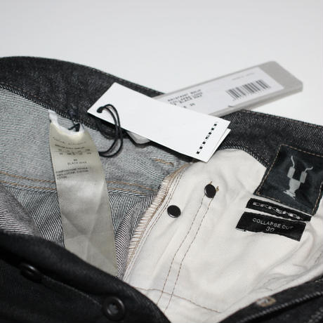 DRKSHDW by Rick owens / AW19 WAXED COLLAPSE CUT JEANS