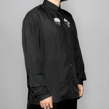 Yohji yamamoto pour homme / AW94 Trick art skull print shirt