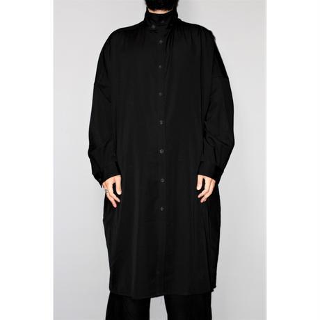 Yohji yamamoto pour homme / SS19 Oversized wool gabardine long shirt
