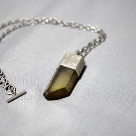 Parts of four / 18SS Talisman Necklace ( Large Smoky Quartz )
