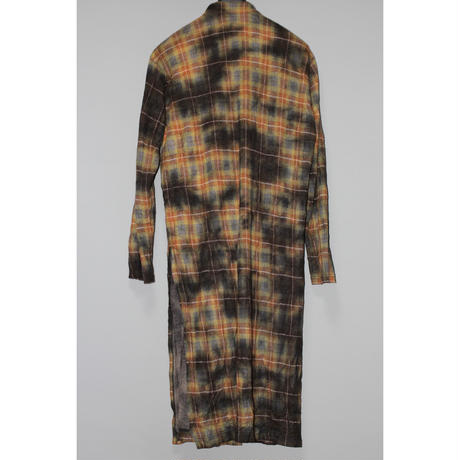 Yohji yamamoto pour homme / AW20 Dyed flannel stole shirt coat