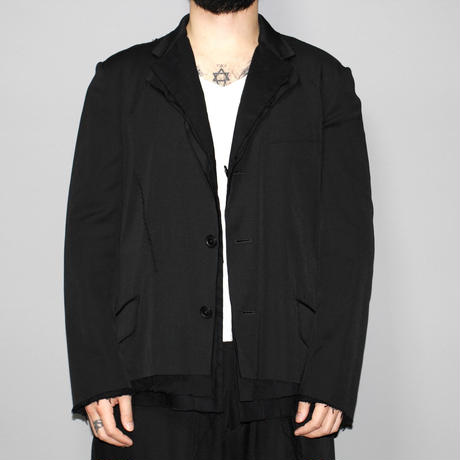 Yohji yamamoto pour homme / AW15 3 layered reversible tailored jacket