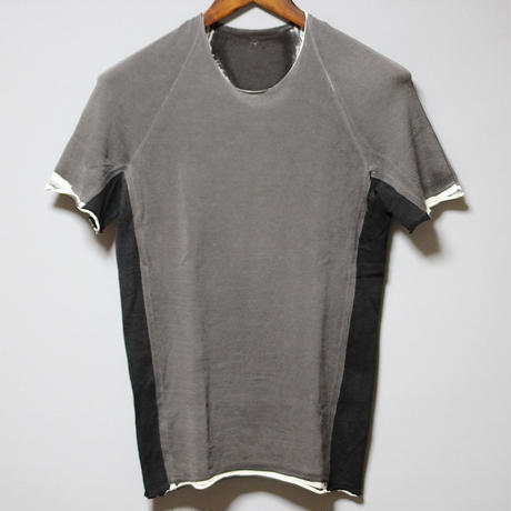 LABEL UNDER CONSTRUCTION / COLD DYED KNIT T-SHIRT
