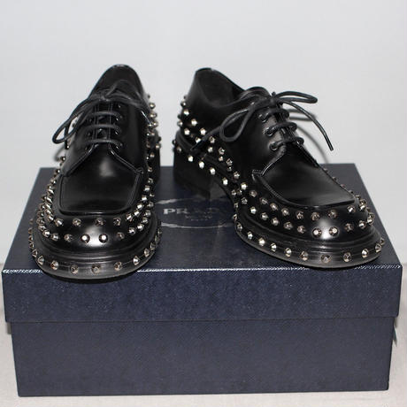 PRADA / 19AW Studs leather lace up shoes