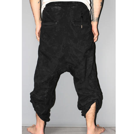 BORIS BIDJAN SABERI / 16AW Vinyl processed Adjustable jogging pants