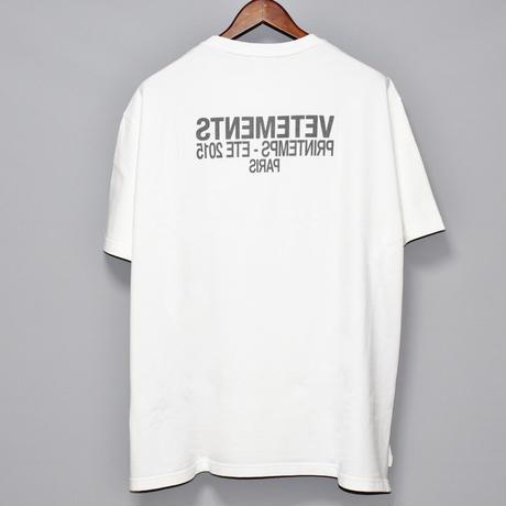 VETEMENTS / Heavy cotton oversized side slit T-shirt