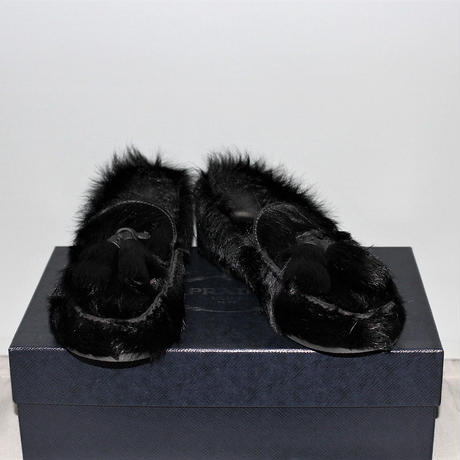 PRADA / 17AW Fur tassel loafers