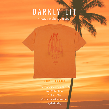 DARKLY LIT ~heavy weight big tee~