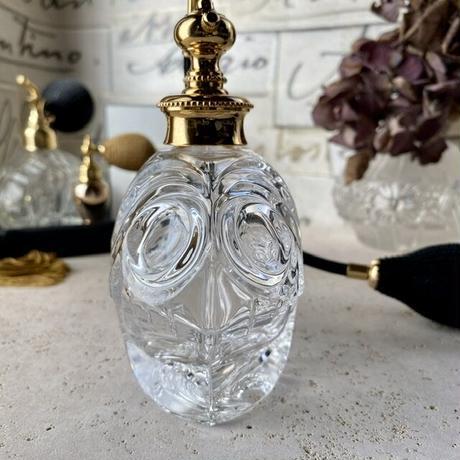 西ドイツ ヴィンテージ ハンドメイドクリスタルガラスボトル バルブアトマイザー 12827-1
