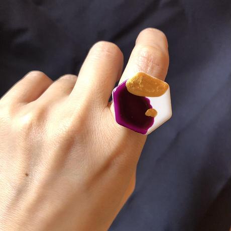 タイルの指飾り(亀甲M)